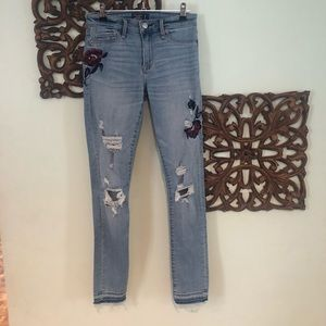 Abercrombie & Fitch Embroidered Jeans